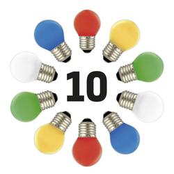 10x Lichterketten LED Bunt