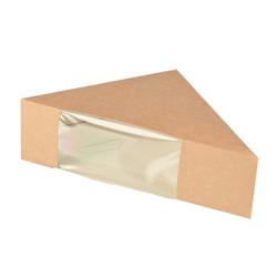 Papstar Pure Sandwichboxen, Pappe, Sandwichbox mit Sichtfenster aus PLA, 1 Packung = 50 Stück, für 2 Scheiben
