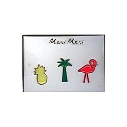 Meri Meri Anstecker Tropische Motive aus Emaille
