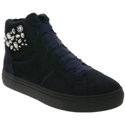 Supremo supremo Schuhe Plateau Stiefel modische Damen Schnür-Boots mit Samt-Schnürsenkeln Sneaker Navy Schnürstiefel
