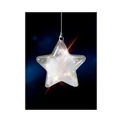 """CHRISTMAS GOODS by Inge Dekohänger LED-Dekoanhänger """"Stern"""" mit Federn, H17,5cm"""