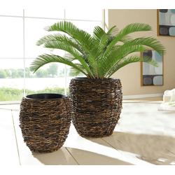 HomeLiving Übertopf Kokos