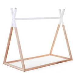 CHILDHOME Tipi Babybett Rahmen Natur weiß 70 x 140 cm