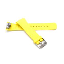 vhbw Armband passend für Samsung Gear Fit 2 SM-R360 Smartwatch, Gelb, Silikon Ersatzarmband