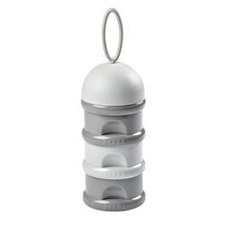 BEABA Milchpulver-Dosierbox 3 stapelbare Fächer 270ml grau