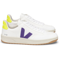 Veja - V12 BMesh White Purple Yellow Fluo - Sneakers - Größe: 41