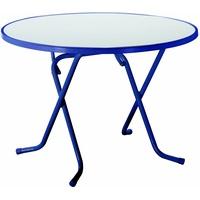 BEST Freizeitmöbel Primo Klapptisch Ø 80 x 70 cm blau