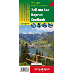 Zell am See Kaprun Saalbach 1 : 50 000. WK 382