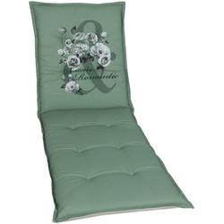 GO-DE Liegenauflage, 190 x 60 cm grün Liegenauflagen Gartenmöbel-Auflagen Gartenmöbel Gartendeko Liegenauflage