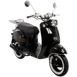 AGM MOTORS Motorroller GMX 460 Retro Classic NF Edition, 50 ccm, 45 km/h, Euro 4 schwarz