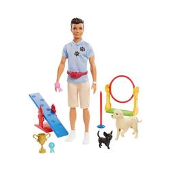 Mattel® Anziehpuppe Barbie Ken Hundetrainer Spielset Puppe (brünett)