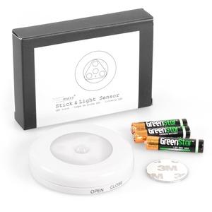 METmaxx Batteriebetriebenes LED Nachtlicht mit Bewegungssensor inkl. Batterien, magnetischer Bewegungsmelder mit LED Licht
