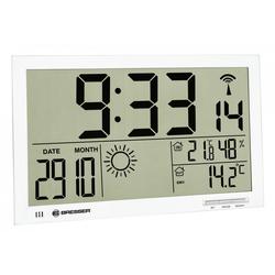 BRESSER Wetterstation MyTime Jumbo LCD Wetter-Wanduhr weiß