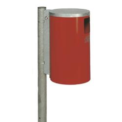 VAR Abfallsammler Typ WR 1, zur Wand- oder Rohrbefestigung, Farbe: rot