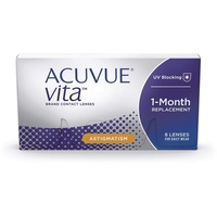 Acuvue Vita for Astigmatism 6 St. / 8.60 BC / 14.50 DIA / -1.75 DPT / -0.75 CYL / 10° AX