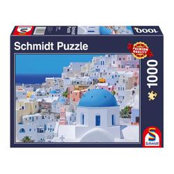 Schmidt Spiele Puzzle Santorini - Kykladische Inseln, 1000 Puzzleteile