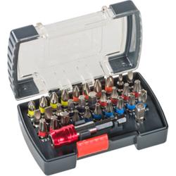 Bit-Set 32-teilig in praktischer Bit-Box, S2-Stahl inkl. Bit-Halter