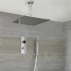 Digitale Dusche für 2 Funktionen inkl. 300x300mm Decken-Duschkopf & Brause - Narus, von Hudson Reed