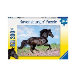 Ravensburger Puzzle Puzzle, 200 Teile XXL, 49x36 cm, Schwarzer Hengst, Puzzleteile