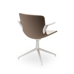 Sitland Milos Konferenzstuhl mit weißem Drehgestell