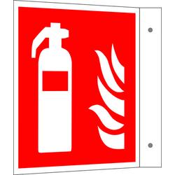 Brandschutzschild Feuerlöscher Aluminium (B x H) 300mm x 300mm ISO 7010 1St.