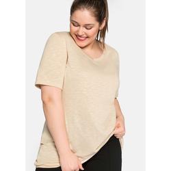 Sheego Shirt Sheego beigefarben