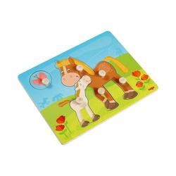 Haba Steckpuzzle Greifpuzzle Pferdefamilie, Puzzleteile