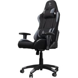 Gaming Stuhl Rallye schwarz inkl. Nackenkissen und Rückenkissen + höhenverstellbare Armlehnen