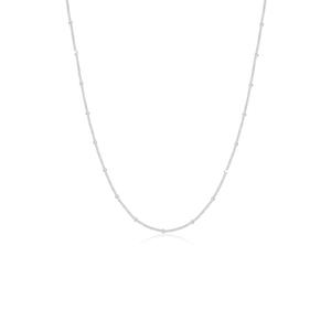Halskette Basic Panzerkette Kugeln Trend Fein 925 Silber Elli Silber - 001