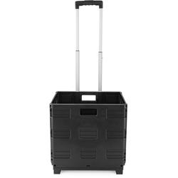 EASYmaxx Einkaufstrolley, zusammenklappbar schwarz Einkaufkörbe Co Einkaufstrolley