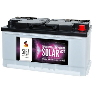SIGA Versorgung 120Ah 12V Boot Yacht Schiffsbatterie Marine Solar Batterie Akku