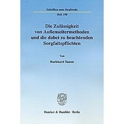 Burkhard Tamm  - Buch