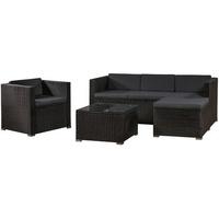 ArtLife Punta Cana L Lounge-Set schwarz/dunkelgrau