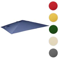 Bezug für Luxus-Ampelschirm HWC-A96, Sonnenschirmbezug Ersatzbezug, 3x4m (Ø5m) Polyester 3,5kg ~ blau