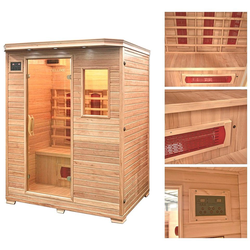 HOME DELUXE Infrarotkabine Redsun L, 153/110/190 cm, 40 mm, für bis zu 3 Personen natur