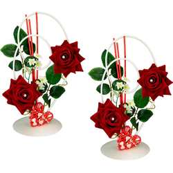 Kunstpflanze Rose, I.GE.A., Höhe 26, 16 cm