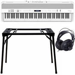 Roland FP-90X Weiß + Keyboard-ständer (DPS-10) & Kopfhörer