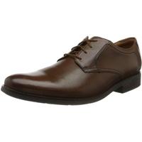 CLARKS Becken Lace 261452967 Dark Tan Leather, 45