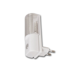 McPower LED Nachtlicht Nachtlicht LED SENSOR - Steckdosenbetrieb - hellweiss 6000K- 1,2W - mit Dämmerungssensor