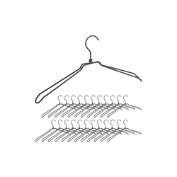 relaxdays Kleiderbügel 24 x Kleiderbügel Metall