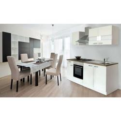 Respekta Küchenzeile KB210WW 210 cm Weiß