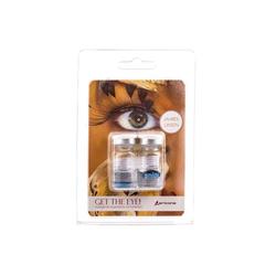 FUN Kontaktlinsen, 2er Pack - ohne Stärke / 8.60 BC / 14.20 DIA / 0.00 DPT / Cat´s Eye