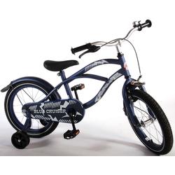Volare Kinderfahrrad 16 Zoll Kinderfahrrad Kinder Hollandfahrrad Fahrrad Bike Rad Unisex Cruiser Blau, 1 Gang, Keine Schaltung