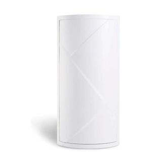 QGPWHLS Badezimmer 360 Grad Dreieck Drehen Regal Küche WC Regal Eckregal Bad Lagerung Rack Cabinet Multi-Layer Storage,Weiß