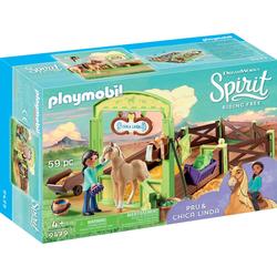 Playmobil® Konstruktions-Spielset Pferdebox Pru & Chica Linda (9479), Spirit Riding Free, Made in Germany