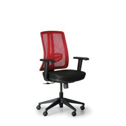 Bürostuhl human, schwarz/rot, kunststoffkreuz