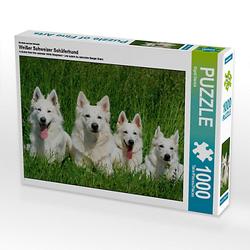 Weißer Schweizer Schäferhund Lege-Größe 64 x 48 cm Foto-Puzzle Bild von SiSta-Tierfoto Puzzle