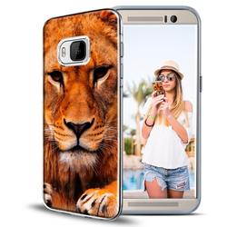Motiv Hülle für HTC One M9 buntes Silikon Handy Schutz Case