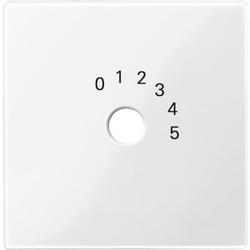 Merten 452019, Zentralplatte für Programmwahlschalter, polarweiß glänzend, System M
