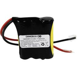 Emmerich LiFePO4-Pack Akkupack 3x 18650 Kabel LiFePO 4 9.6V 1100 mAh